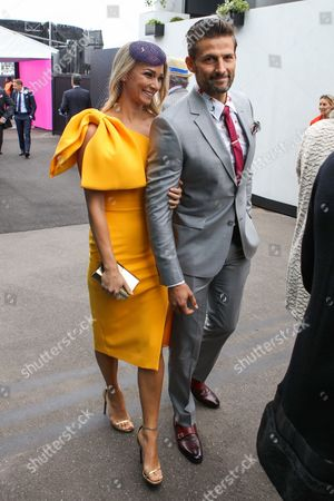 Anna Heinrich and Tim Robards arrive