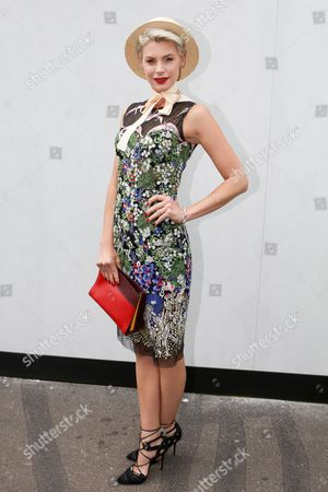 Stock Picture of Kate Peck poses at the Melbourne Cup Carnival