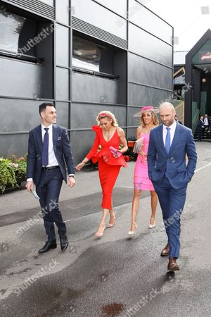 Sisters Kate Twigley, Rebecca Judd, Chris Judd and Mathew Seal
