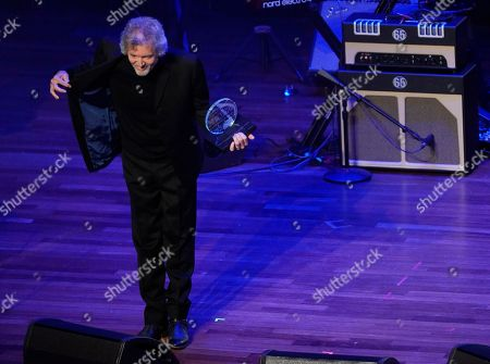Rodney Crowell accepts the The ASCAP Founders Award during the 55th Annual ASCAP Country Music Awards at the Ryman Auditorium, in Nashville, Tenn