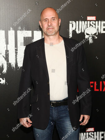 "Paul Schulze attends the premiere of Netflix's ""Marvel's The Punisher"" at AMC Loews 34th Street, in New York"