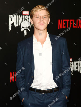 """Daniel Webber attends the premiere of Netflix's """"Marvel's The Punisher"""" at AMC Loews 34th Street, in New York"""