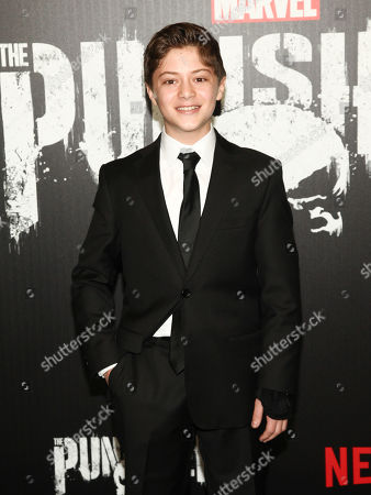 """Kobi Frumer attends the premiere of Netflix's """"Marvel's The Punisher"""" at AMC Loews 34th Street, in New York"""