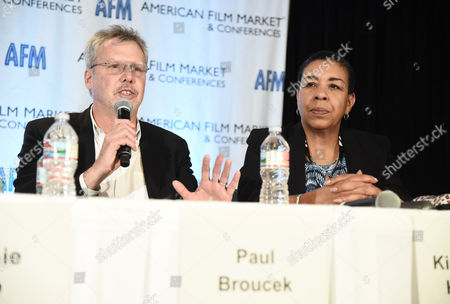 Stock Image of Paul Broucek, President, Music, Warner Bros. Pictures, and Kim Roberts Hedgpeth, Executive Director, Film Musicians Secondary Markets Fund