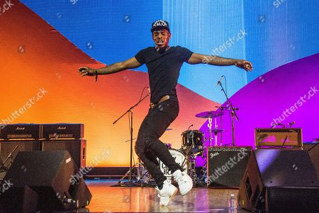 Lil Buck seen on day three of Summit LA17 in Downtown Los Angeles's Historic Broadway Theater District, in Los Angeles