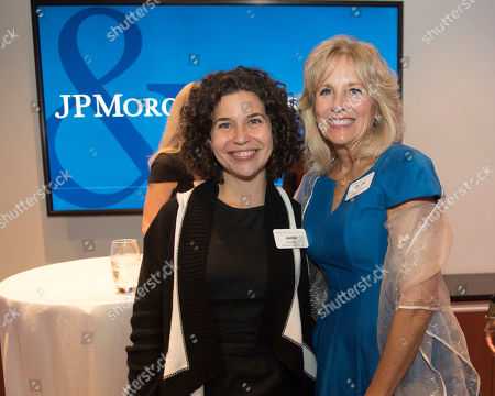 Jill Biden, Janis Bowdler. Dr. Jill Biden, JPMorgan Chase Military and Veterans Affairs External Advisory Council Member & US Second Lady (2009-2017), right, is photographed with Janis Bowdler, Head of Community Development for Global Philanthropy, JPMorgan Chase, during the JPMorgan Chase Military and Veterans Affairs External Advisory Council reception on in Washington. JPMorgan Chase announced an $4.2 million investment in veteran-owned businesses