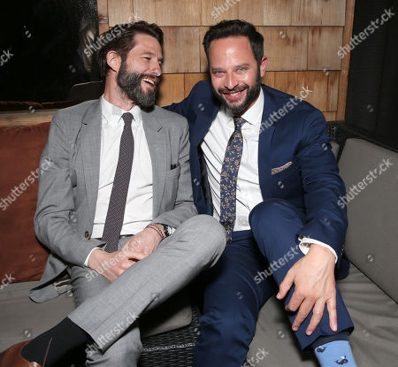 """Stock Picture of TWC RADiUS Co-President Jason Janego and Nick Kroll attend the party for """"Adult Beginners"""" LA Premiere, In Partnership with Wood & Vine at Wood & Vine on in Los Angeles"""