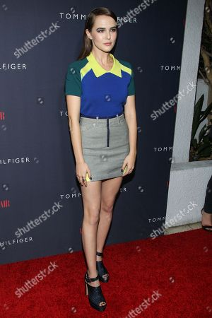 Stock Photo of Zoey Deutch attends the Zooey Deschanel for Tommy Hilfiger Collection launch event at The London Hotel on in West Hollywood, California