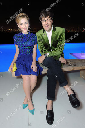 Kiernan Shipka, left, and Andrew Bevan are seen at the 10th Annual Teen Vogue 'Young Hollywood' Party with Emporio Armani, in Los Angeles