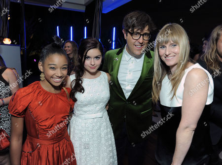 From left, Amandla Stenberg, Ariel Winter, Andrew Bevan and Amy Astley are seen at the 10th Annual Teen Vogue 'Young Hollywood' Party with Emporio Armani, in Los Angeles
