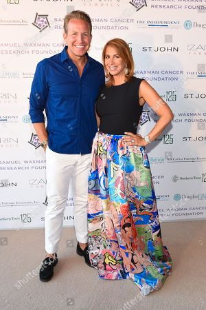 """Reality TV star Jill Zarin, right, and news anchor Chris Wragge attend the 11th annual """"A Hamptons Happening"""", benefiting the Samuel Waxman Cancer Research Foundation, at the Bridgehampton Estate of Maria and Kenneth Fishel, in New York"""