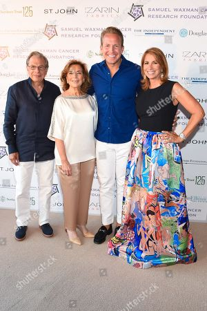 """L-R) Samuel Waxman, Marion Waxman, Chris Wragge, and Jill Zarin attend the 11th annual """"A Hamptons Happening"""", benefiting the Samuel Waxman Cancer Research Foundation, at the Bridgehampton Estate of Maria and Kenneth Fishel, in New York"""