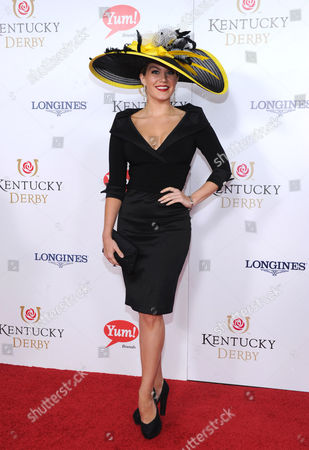 Miss America Mallory Hagan walks the Kentucky Derby Red Carpet, in Louisville, KY. Longines, the Swiss watchmaker known for its famous timepieces, is the Official Watch and Timekeeper of the 139th annual Kentucky Derby
