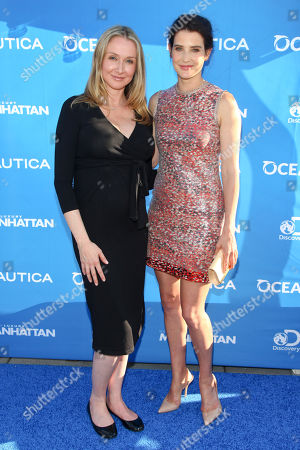 Alexandra Cousteau, left, and Cobie Smulders, right, attend the 1st Annual Nautica Oceana City & Sea Party at the Gansevoort Park Avenue Roofdeck, in New York
