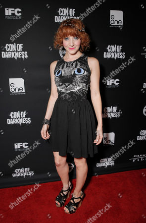 Megan Duffy attends the Con of Darkness, on Friday, July 19th, 2013 in San Diego, California