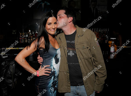 Rileah Vanderbilt and Adam Green attend the Con of Darkness, on Friday, July 19th, 2013 in San Diego, California