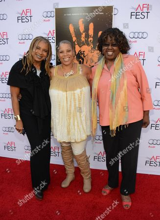 """Margaret Prescod, Pamela Brooks, and LaVerne Butler seen at 2014 AFI Fest - """"Tales Of The Grimm Sleeper"""" - Arrivals at The Egyptian Theatre, in Los Angeles, Calif"""