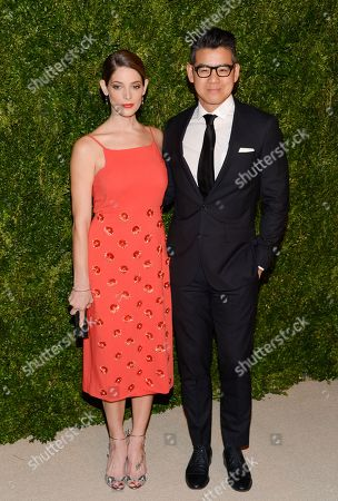 Ashley Greene and designer Peter Som attend the 11th Annual CFDA/Vogue Fashion Fund Dinner event at Spring Studios, in New York