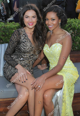 IMAGE DISTRIBUTED FOR THE TELEVISION ACADEMY - Tamara Duarte, left, and Mishael Morgan attend the 2014 Daytime Emmy Nominee Reception presented by the Television Academy at The London West Hollywood on