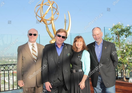 EXCLUSIVE - Chuck Dages, NATAS National Awards Committee member, and from left, David Michaels, senior executive director of the Daytime Entertainment Emmy Awards, Susan Nessanbaum-Goldberg and John Fisher attend the 2014 Daytime Emmy Nominee Reception presented by the Television Academy at The London West Hollywood on