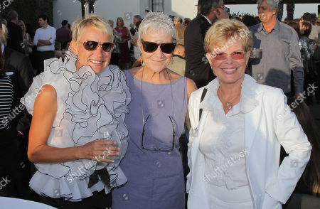EXCLUSIVE - Tania Blu, and from left, Andrea Romano and Sue Blu attend the 2014 Daytime Emmy Nominee Reception presented by the Television Academy at The London West Hollywood on