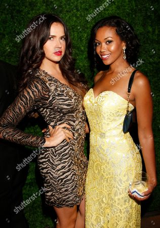 EXCLUSIVE - Tamara Duarte, left, and Mishael Morgan attend the 2014 Daytime Emmy Nominee Reception presented by the Television Academy at The London West Hollywood on