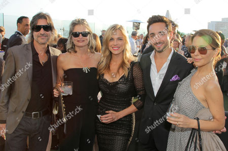 EXCLUSIVE - Len Iannelli, and from left, Mary Iannelli, Kelly Sullivan, Eric Schneider and Lisa LoCicero attend the 2014 Daytime Emmy Nominee Reception presented by the Television Academy at The London West Hollywood on
