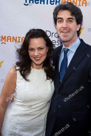 Georgia Stitt and Jason Robert Brown attend the Drama Desk Awards on in New York