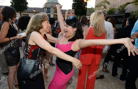 Stock Photo of Kathie Barnes, left, and Romi Dames attend the Television Academy's 66th Emmy Awards Performers Peer Group Celebration at the Montage Beverly Hills, in Beverly Hills, Calif