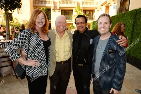 Patricia Bethune, Conrad Bachmann, Ajay Mehta and Maury McIntyre, Television Academy President and COO, attend the Television Academy's 66th Emmy Awards Performers Peer Group Celebration at the Montage Beverly Hills, in Beverly Hills, Calif