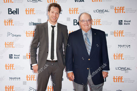 "Director Gabe Polsky and retired National Hockey League head coach Scotty Bowman attend the premiere of ""Red Army"" at the Ryerson Theatre during the 2014 Toronto International Film Festival, in Toronto"