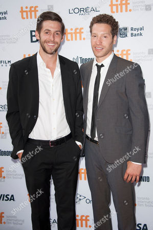 "Producer Liam Satre-Meloy and director Gabe Polsky seen at the premiere of ""Red Army"" at the Ryerson Theatre during the 2014 Toronto International Film Festival, in Toronto, Ontario"