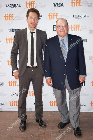 "Director Gabe Polsky and retired National Hockey League head coach Scotty Bowman seen at the premiere of ""Red Army"" at the Ryerson Theatre during the 2014 Toronto International Film Festival, in Toronto, Ontario"