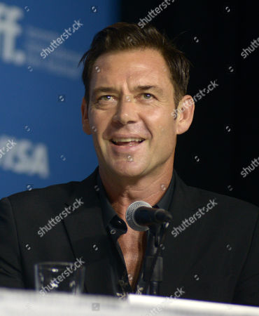 """Marton Csokas attends the press conference for """"The Equalizer"""" on day 4 of the Toronto International Film Festival at the TIFF Bell Lightbox, in Toronto"""