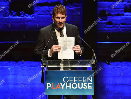 Gil Cates Jr. speaks at Backstage at the Geffen, in Los Angeles