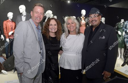 "Christopher Lawrence, costume designer of ""Ray Donovan"", from left, Beth Grant, Lisa Padovani, costume designer of ""Gotham"" and Salvador Perez, costume designer of ""The Mindy Project"" seen at The 9th Annual Outstanding Art of Television Costume Design Exhibition opening at the FIDM Museum & Galleries on the Park, in Los Angeles. The Television Academy and FIDM Museum honored this year's Emmy(R) Award winners in Outstanding Costume Design at the opening reception for this annual special exhibition"