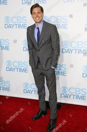 Zack Conroy arrives at the 2015 Daytime Emmy Awards CBS After Party at The Hollywood Athletic Club, in Los Angeles