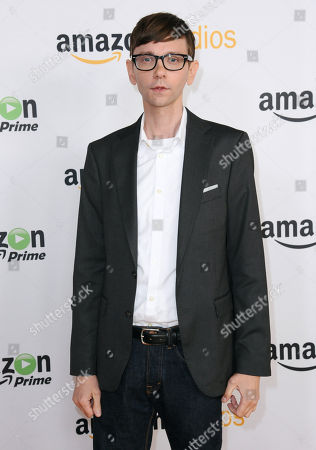"DJ Qualls attends ""The Man in the High Castle"" photo call at the Amazon Summer TCA Tour at the Beverly Hilton Hotel, in Beverly Hills, Calif"