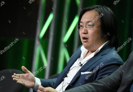 """Stock Image of Freddie Wong participates in the """"RocketJump: The Show"""" panel at the Hulu Summer TCA Tour at the Beverly Hilton Hotel, in Beverly Hills, Calif"""