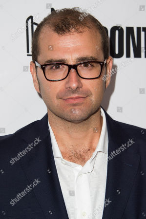"""Director Paco Cabezas attends a premiere for """"Mr. Right"""" on day 10 of the Toronto International Film Festival at Roy Thomson Hall, in Toronto"""
