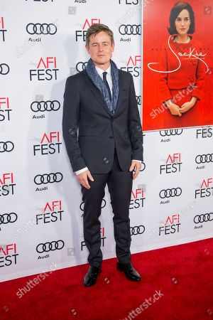 """Actor Caspar Phillipson arrives at the 2016 AFI Festival """"Jackie"""" Centerpiece Gala at the TCL Chinese Theatre, in Los Angeles"""