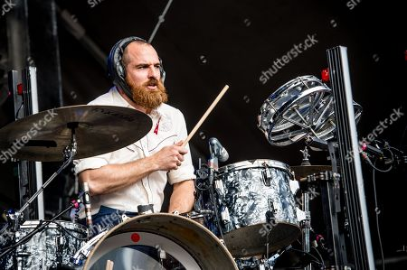 Darren King of Mutemath performs on day 3 of Lollapalooza, in Chicago