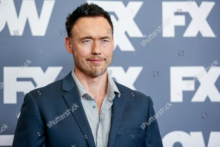 "Kevin Durand, a cast member in the television series ""The Strain,"" arrives at the FX Television Critics Association summer press tour, in Beverly Hills, Calif"