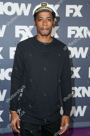 """Keith Stanfield, a cast member in the television series """"Atlanta,"""" arrives at the FX Television Critics Association summer press tour, in Beverly Hills, Calif"""