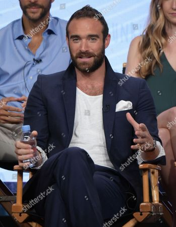 "Joshua Sasse participates in the ""No Tomorrow"" panel during The CW Television Critics Association summer press tour, in Beverly Hills, Calif"