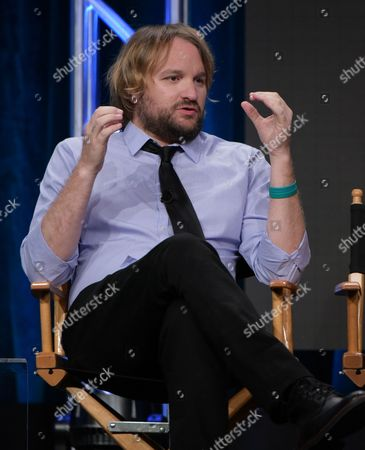 """Lenny Jacobson participates in the """"Frequency"""" panel during The CW Television Critics Association summer press tour, in Beverly Hills, Calif"""