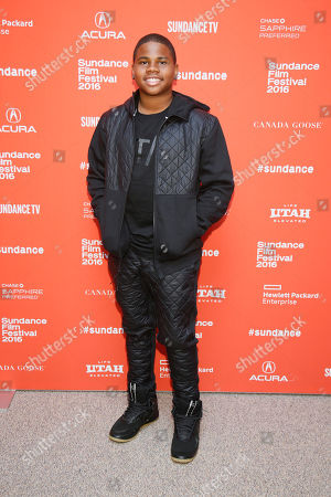 """Actor Markees Christmas poses at the premiere of """"Morris From America"""" during the 2016 Sundance Film Festival, in Park City, Utah"""
