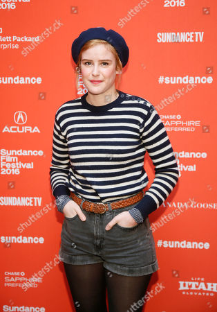 "Actress Carla Juri poses at the premiere of ""Morris From America"" during the 2016 Sundance Film Festival, in Park City, Utah"
