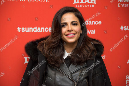 """Stock Picture of Actress Azita Ghanizada poses at the premiere of """"Complete Unknown"""" during the 2016 Sundance Film Festival, in Park City, Utah"""