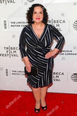 "Olga Merediz attends the world premiere screening of ""Custody"", during the 2016 Tribeca Film Festival, at John Zuccotti Theater at BMCC Tribeca Performing Arts Center, in New York"